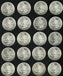 A Full Roll Of Twenty Uncirculated 1881 P Mint Morgan Silver Dollars!