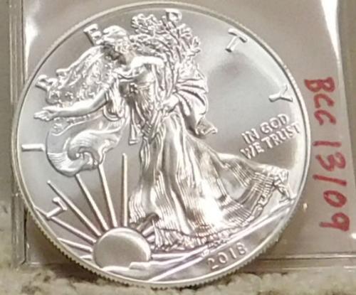 2018 Uncirculated Silver Eagle, 1 oz pure Silver