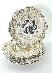 Set of 6 Art Nouveau Sterling Nut Dishes