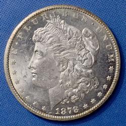 Uncirculated Morgan Silver Dollar, 1878-CC