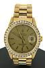 Rolex 18kt President Diamond Bezel Watch