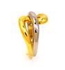 18K Two Tone Gold Twist Ring, Size 5.5