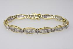 Gold Bracelet Bristling with Mixed Cut Diamonds