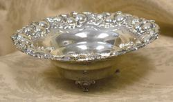 Quality Chased Sterling Footed Bowl