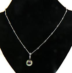 Lovely 18kt Pearl and Diamond Necklace