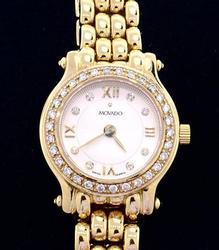 Like New Ladies 14kt Movado w Diamonds
