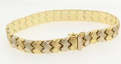 Two Tone Braided Look Gold Bracelet
