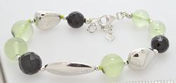 Cool Sterling and Stone Bracelet