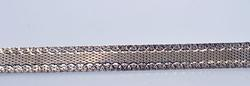 Heavy Sterling Mesh Bracelet with Laser Cut Accents