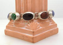 Natural Stone Bracelet in Sterling