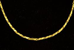 24K Fine Gold Necklace, 21inches Long