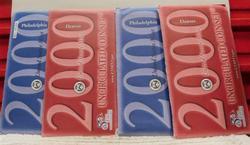 2 each 2000 Mint Uncirculated Sets