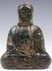 Jade Carved Old Nephrite Buddha Praying Holding Tower