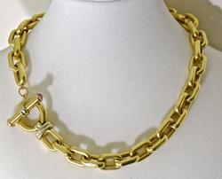 Wonderful 18K Thick Cable Link Necklace