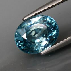 4.60ct high fire diamond luster steel blue Zircon