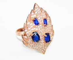 Splendid Art & Craft Handmade Rose Gold 925 S Ring