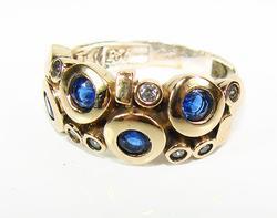 Flattering Gems Unique Design Handmade 925 S Ring