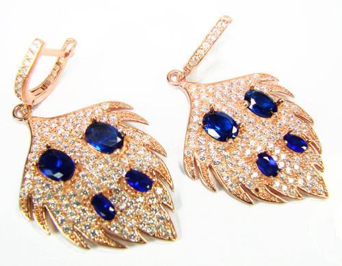 Splendid Art & Craft handmade Rose Gold 925 S Earrings