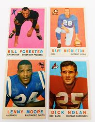 4 Topps 1959 Football Cards