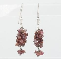 Sterling Silver Natural Ruby Earrings