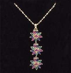 14kt Gold Precious Gemstone Pendant Necklace