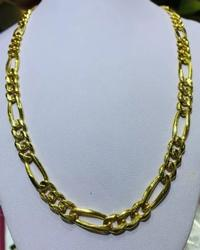 Unisex 14kt Solid Yellow Gold Chain Necklace