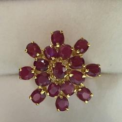 14kt Gold & Red Ruby Cocktail Ring