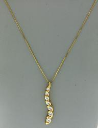 Nice Diamond Journey Necklace