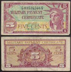 5 Cent MPC Series 591 Circulated