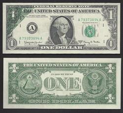 $1 1963-A FRN Dark Offset Uncirculated