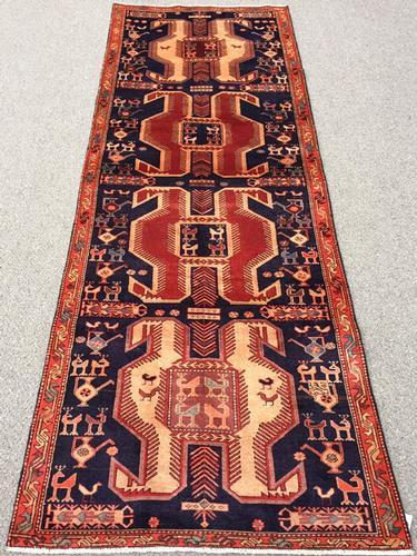 Important Mid 20th C. Collectible Armenian Weave Authentic Vintage Lankoran