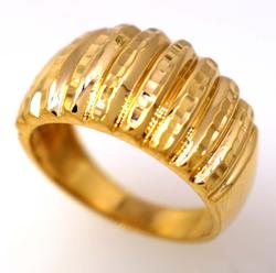 Shining Gold Dome Ring, Size 7