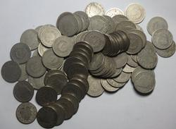 100 Assorted V Nickels Unsearched