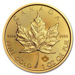 2019 1oz Canadian Gold Maple Leaf Uncirculated