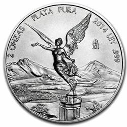 2014 Mexican Silver Libertad 2 Ounce
