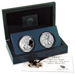 Silver Eagle 2 Coin 2012 San Francisco Proof Set