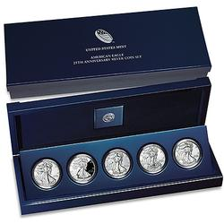 2011 Silver Eagle 25th Anniversary 5pc Set