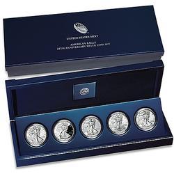 2011 Silver Eagle 25th Anniversary 5pc Set