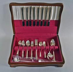 1950's Holmes & Edward Silverplate Flatware Set in Case