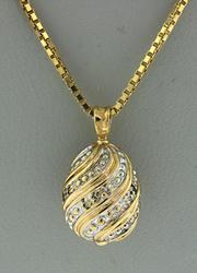 Amazing Diamond Egg Pendant Necklace