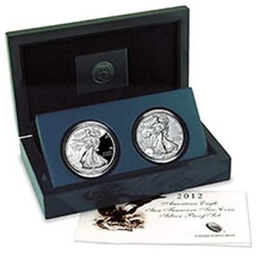 Silver Eagle 2 Coin 2012 San Francisco Proof Set