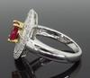 18K Gold Ruby and Diamond Halo Style Ring
