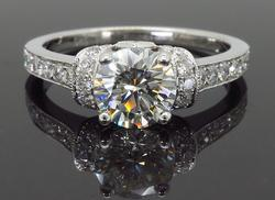 GIA Certified 1.38ctw Diamond Rinbg