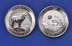 2015 & 2016 3/4oz Silver Wolf Moon Canada