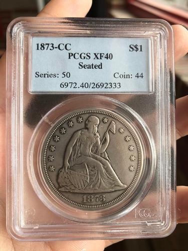 1873-CC Seated Liberty Dollar - PCGS Graded XF-40