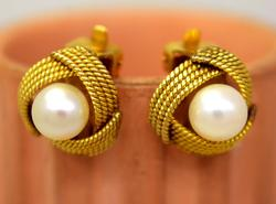 Classic Pearl Clip-On Earrings in Gold