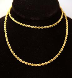 Thick Long Gold Rope Chain, 27.5in