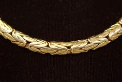 Fancy 16in Gold Link Necklace