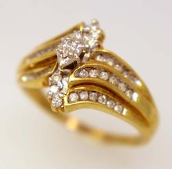 Multi-Diamond Ring in Gold, Size 11