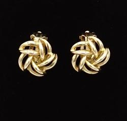 14kt Yellow Gold Clip-On Earrings